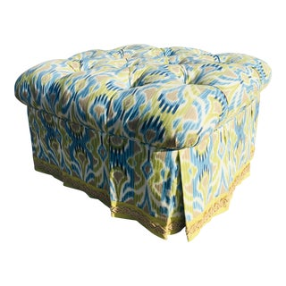 Stroheim and Roman Tufted Ottoman For Sale