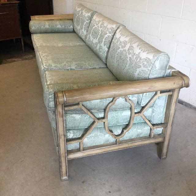 Palm Beach Regency Dorothy Draper Style Fretwork Sofa - Image 12 of 12