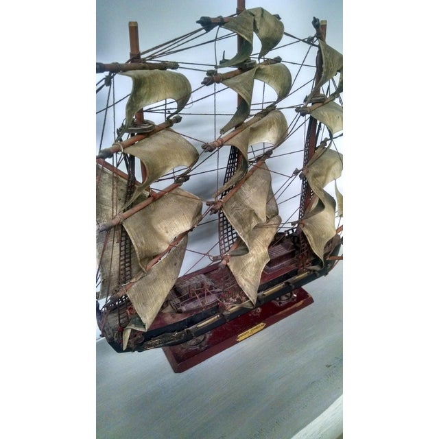 Vintage Tall Ship Model - Image 3 of 7