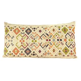Vintage Laotian Textile Custom Pillow For Sale