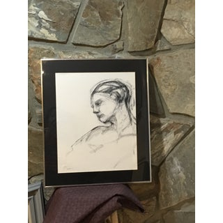 Original Charcoal Abstract Portrait Drawing Preview