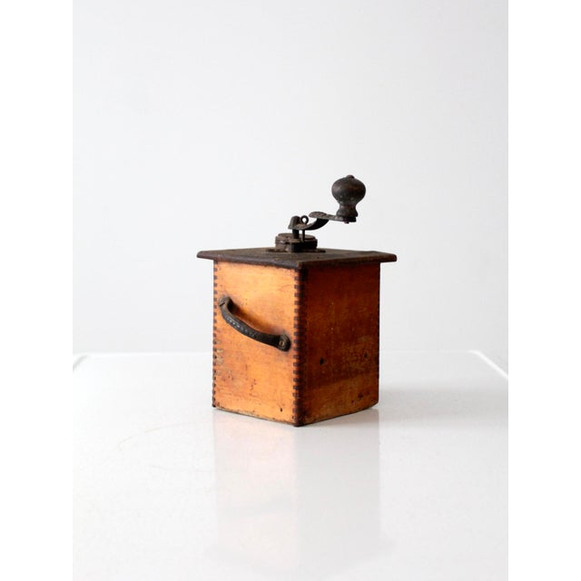 Farmhouse Antique Coffee Grinder For Sale - Image 3 of 7
