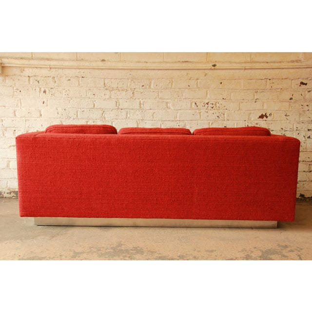 Milo Baughman Style Floating Sofa - Image 5 of 8