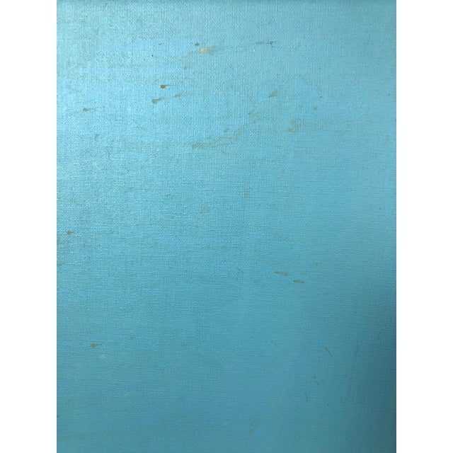 Late 20th Century 1977 Abstract Oil on Canvas Painting Signed Myers For Sale - Image 5 of 9