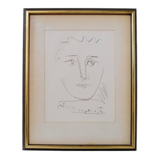 "1950's Original ""Pour Robie"" Etching by Pablo Picasso For Sale"