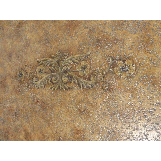 Vintage Maitland Smith Beige & Gold Ornate 3 Drawer Chest ~ Hollywood Regency Dresser For Sale - Image 10 of 13