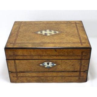 19th Century Victorian Burl Wood Lap Desk Box Preview