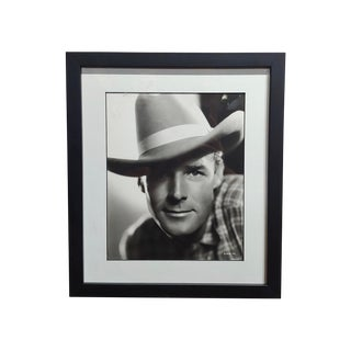 Randolph Scott - 1940s Hollywood Portrait by George Hurrell -Signed For Sale