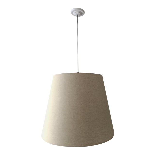 Tapered Drum Pendant in Linen - Image 1 of 6