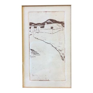 """Taos Nm"" Drypoint Etching Print by Ralph Pearson For Sale"