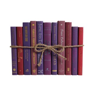 Modern Berry ColorPak : Decorative Books in Shades of Purple For Sale