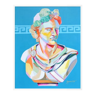 Greek Bust I by Jennifer Sparacino in White Framed Paper, Large Art Print For Sale