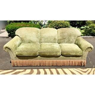 1990s Vintage Edward Ferrell Green Fringe Sofa Preview