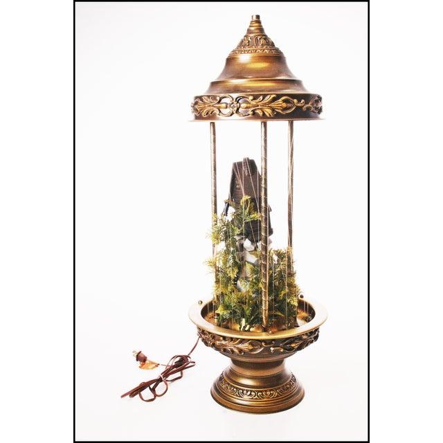 Mid Century Hollywood Regency Mineral Oil Rain Lamp - Image 7 of 11