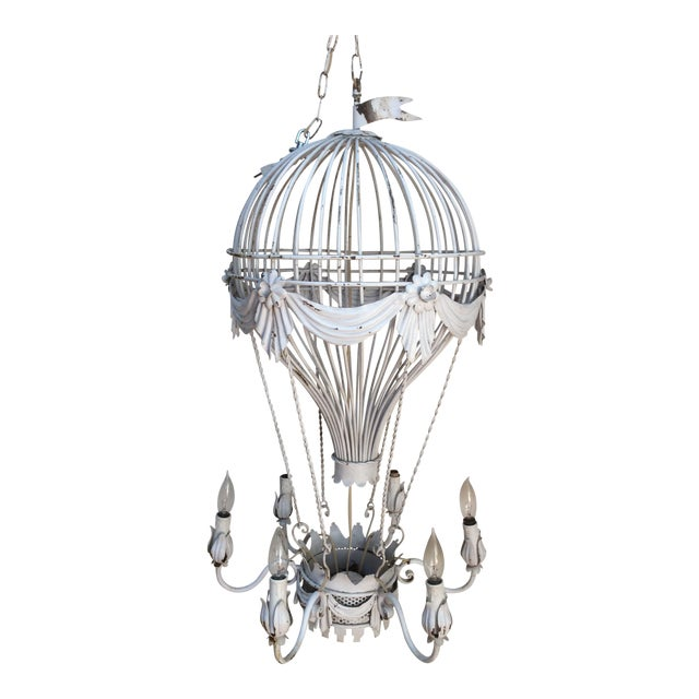 Vintage Hot Air Balloon Chandelier For Sale