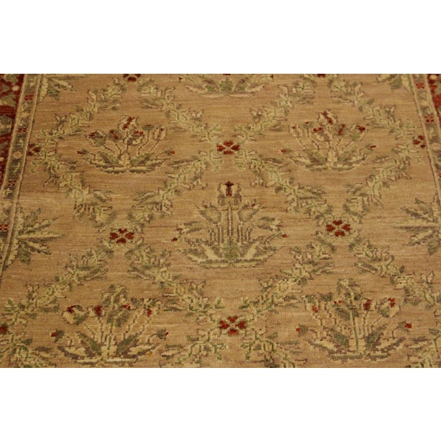 2000 - 2009 Kafkaz Peshawar Fatima Tan/Rust Hand-Knotted Rug - 4'1 X 5'9 For Sale - Image 5 of 8