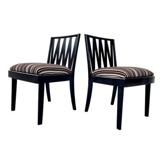 Mid-Century Side Chairs by Paul Frankl 1950s - a Pair For Sale