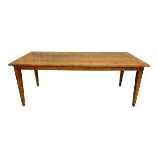 Early 19th C. French Walnut Farm Table For Sale