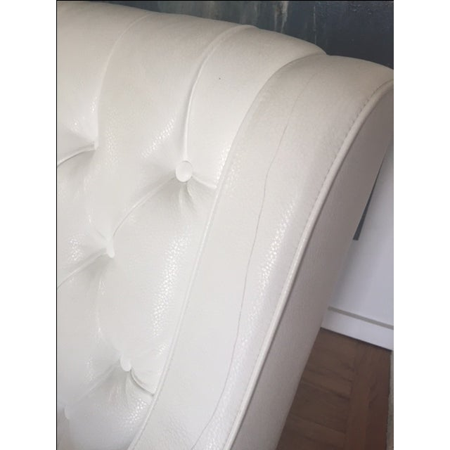 White Faux Leather Swivel Rocking Chair - Image 4 of 7