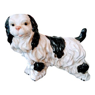 Extra Large Staffordshire Style Spaniel Statue Figurine For Sale