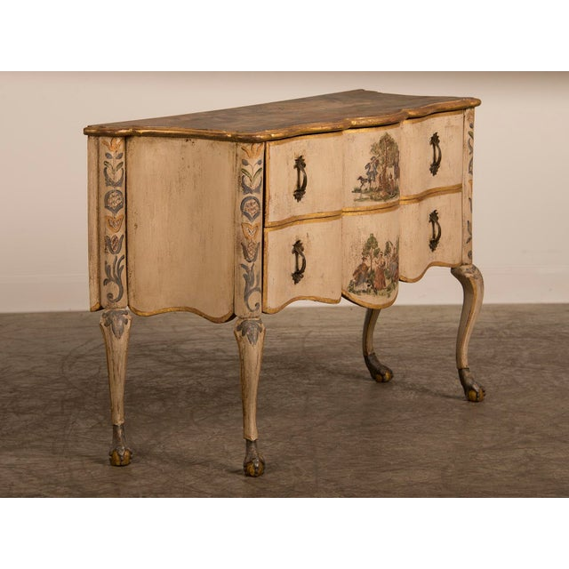 Antique Italian Baroque Painted Two Drawer Chest, circa 1750 For Sale - Image 4 of 11