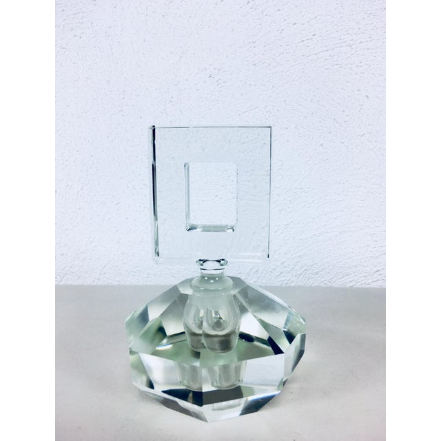 Crystal Hand Cut Crystal Perfume Bottles – a Pair For Sale - Image 7 of 9