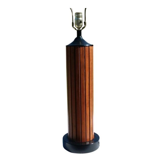 Mid Century Modern Teak Lamp For Sale