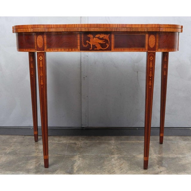 Federal Style Mahogany Game Table For Sale - Image 4 of 9