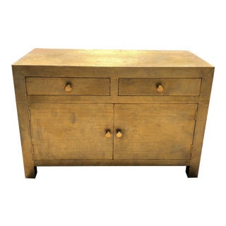 Late 20th Century Brass Clad Faux Shagreen Embossed Dresser