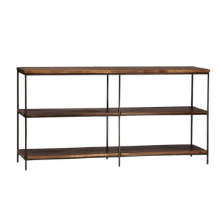 Reclaimed Wood & Iron Console Table For Sale