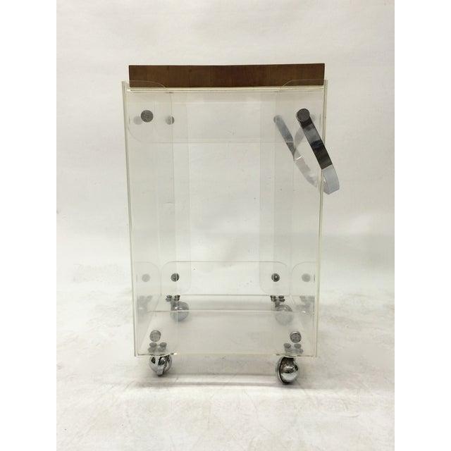 Plexiglass Bar Cart Workstation - Image 4 of 6