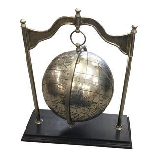 Metal Globe Sculpture For Sale