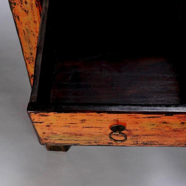 Chinese Painted and Lacquered Three-Drawer Console Table For Sale - Image 5 of 11