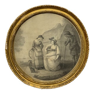 18th Century Antique Francesco Bartolozzi John Hodges Framed Engraving Print For Sale