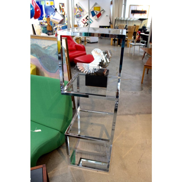 Mid 20th Century Milo Baughman Chrome Etagere With Asymmetrical Form For Sale - Image 5 of 6