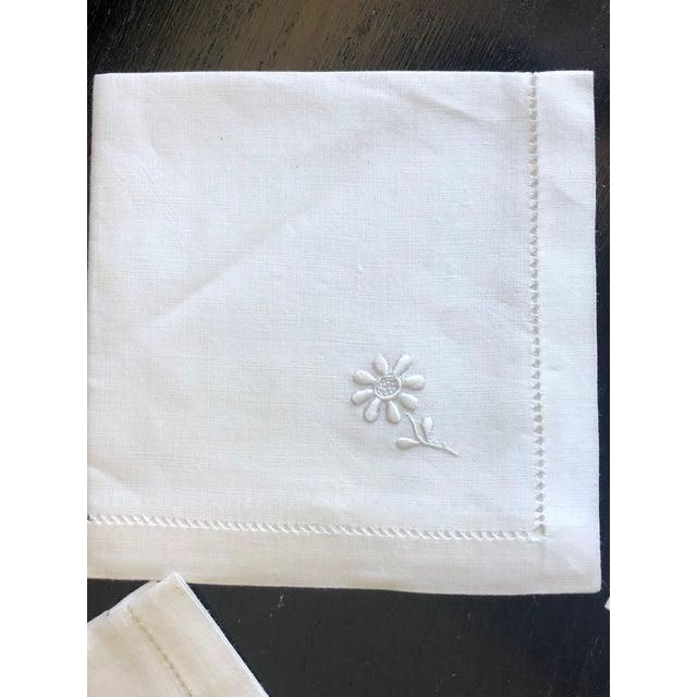 Textile Vintage Linen Luncheon Napkins - Set of 4 For Sale - Image 7 of 12