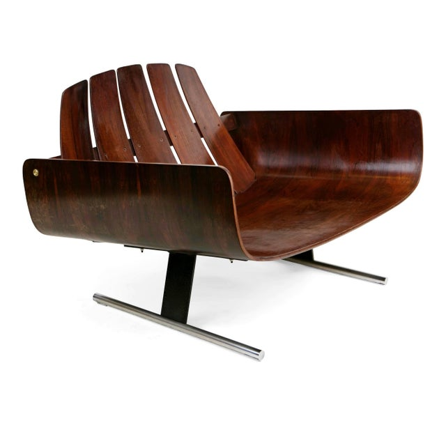 "1960s 1960s Vintage Jorge Zalszupin Brazilian ""Presidencial"" Jacaranda Armchair For Sale - Image 5 of 10"
