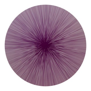 Shadow Lines Placemat in Plum For Sale