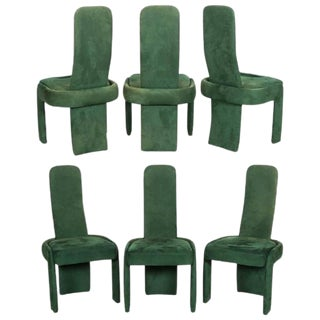 1970s Vintage Modernist Dining Chairs - Set of 6 For Sale