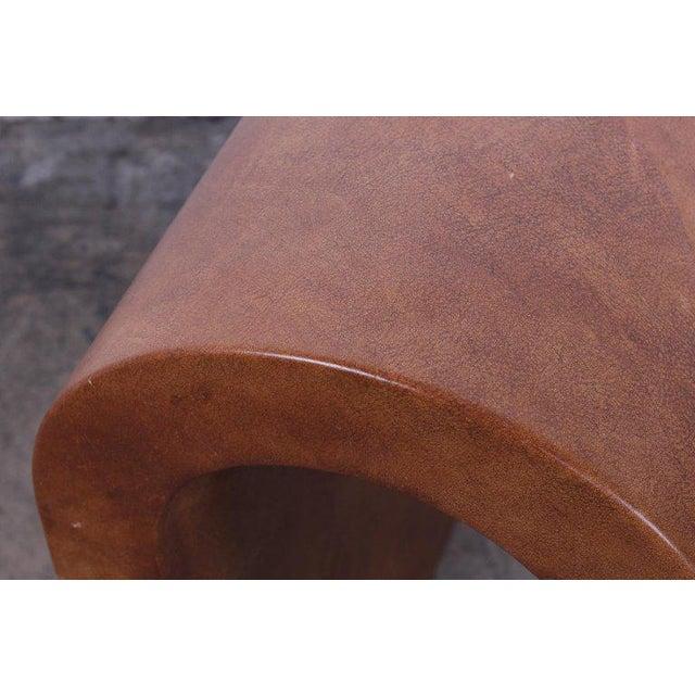 Karl Springer Goatskin Parchment Bench For Sale - Image 12 of 13