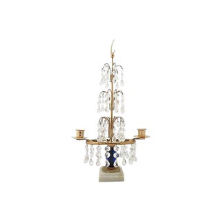 Gustavian-Style Table Chandelier Candle Holder