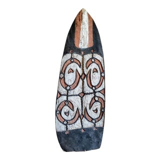 Early 20th Century Oceanic Asmat People War Shield For Sale