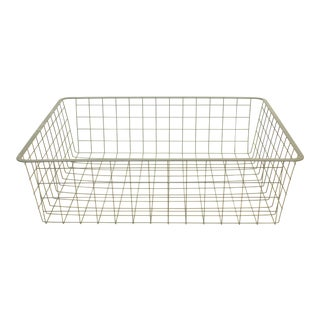 Vintage Wire Storage Crate For Sale