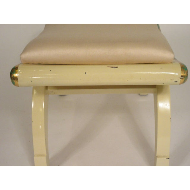 1970s Gilt Swag Wood Bench For Sale In New York - Image 6 of 7