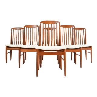 Danish Modern Teak Dining Chairs by Benny Linden - Set of 6