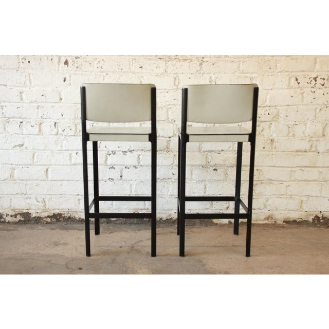 Mateo Grassi Sistina Italian Leather Counter Stools - A Pair For Sale In South Bend - Image 6 of 8