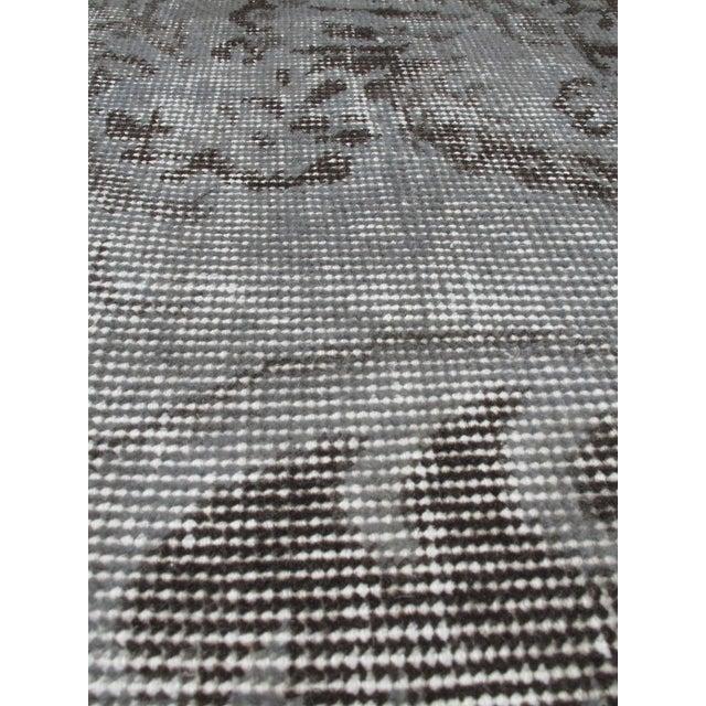 "Turkish Gray Overdyed Rug - 6'5"" x 9'5"" - Image 2 of 3"