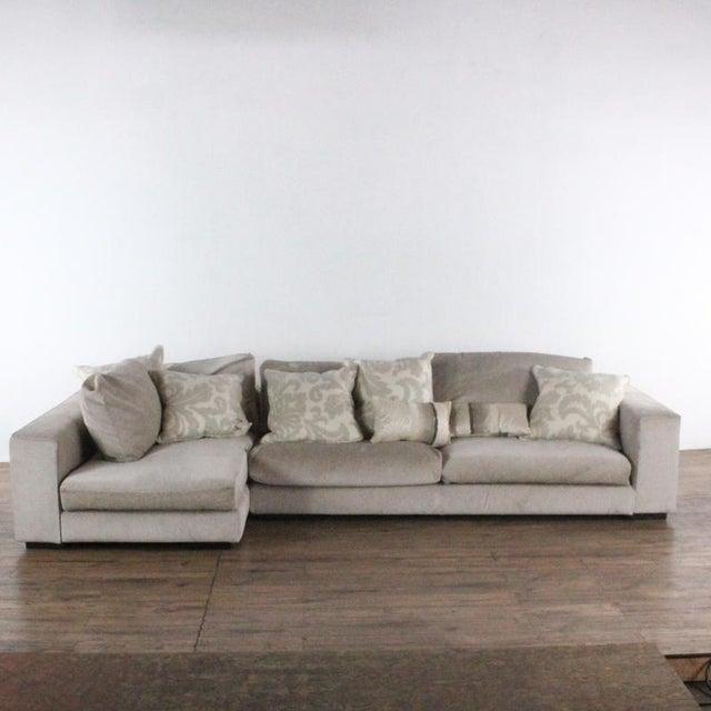 Mid-Century Modern Minotti Mid Century Modern Style Italian Upholstered Sectional Sofa For Sale - Image 3 of 13