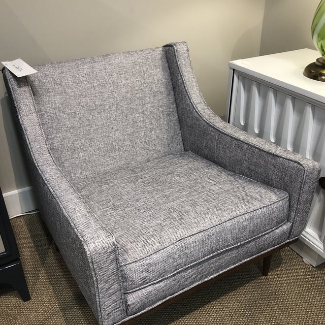 1960s Midcentury Slope Arm Chair For Sale - Image 5 of 12