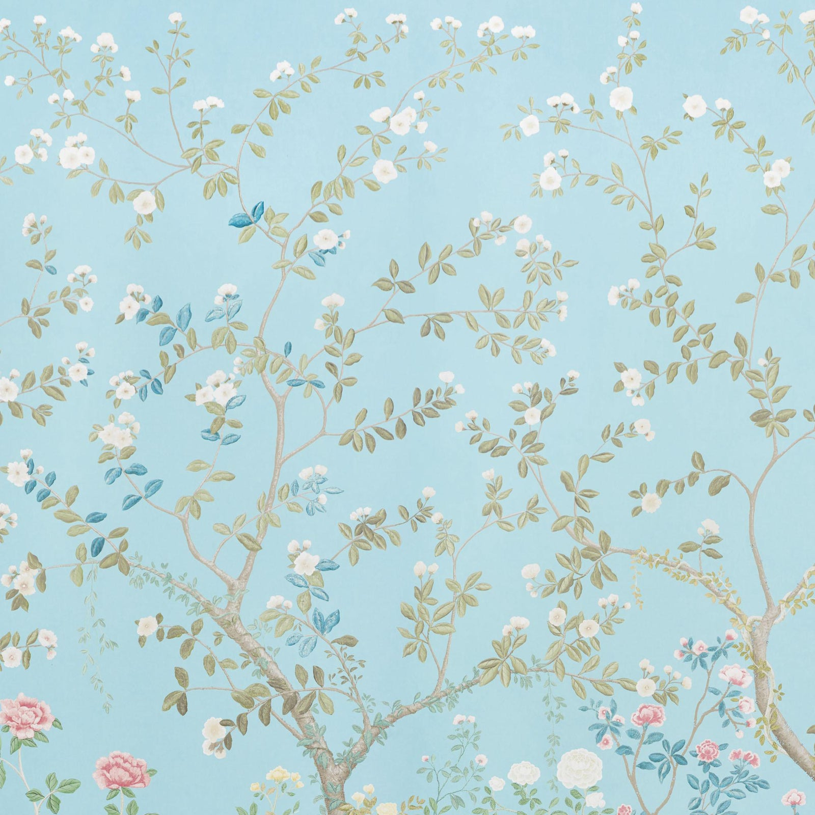 Sample Schumacher X Miles Redd Madame De Pompadour Wallpaper In